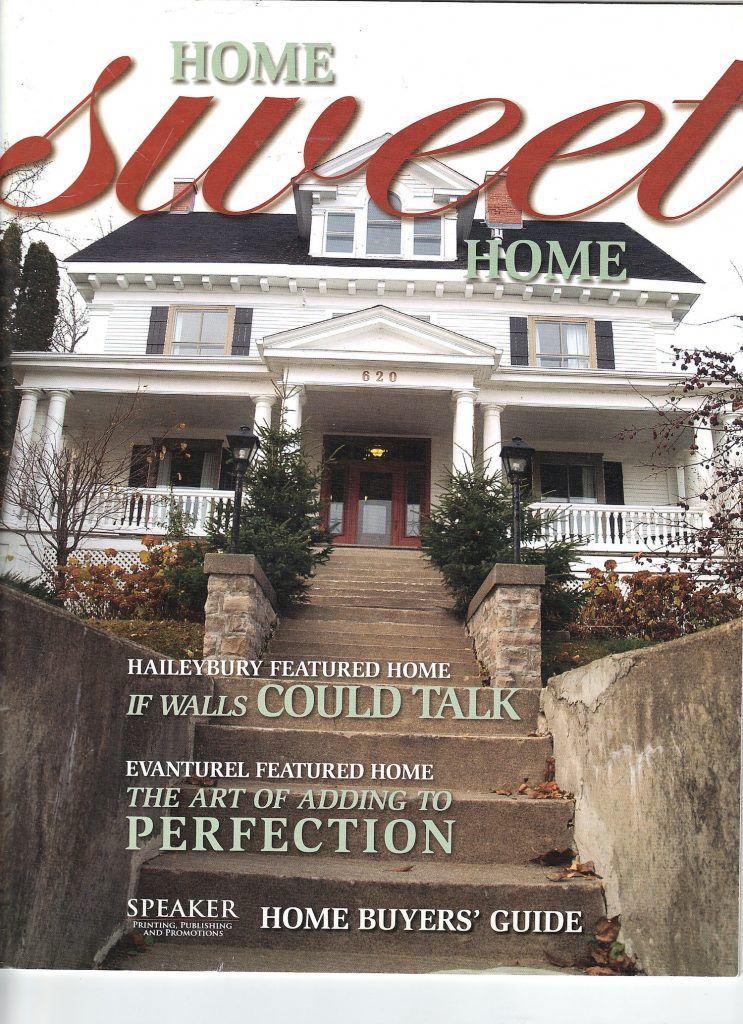 Home Sweet Home publication, If walls could talk article about the Presidents' Suites. / Article sur le sujet des Suites des Présidents.