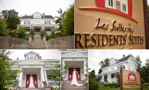 Collage of a Presidents' Suites destination wedding in Haileybury - un montage de photos d'un mariage à destination aux Suites des Présidents à Témiskaming Shores