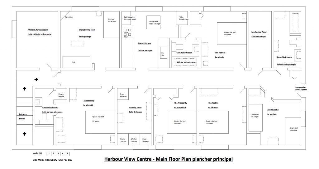 Harbour View Centre plan du centre de locaiotn de vacances